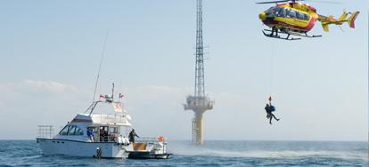 Un Exercice de sécurité maritime sur le mât de mesures !
