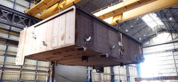 La fabrication de la sous-station électrique du parc éolien en mer de Fécamp se poursuit !